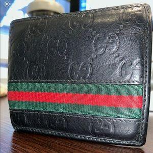 UNISEX Gucci black signature wallet